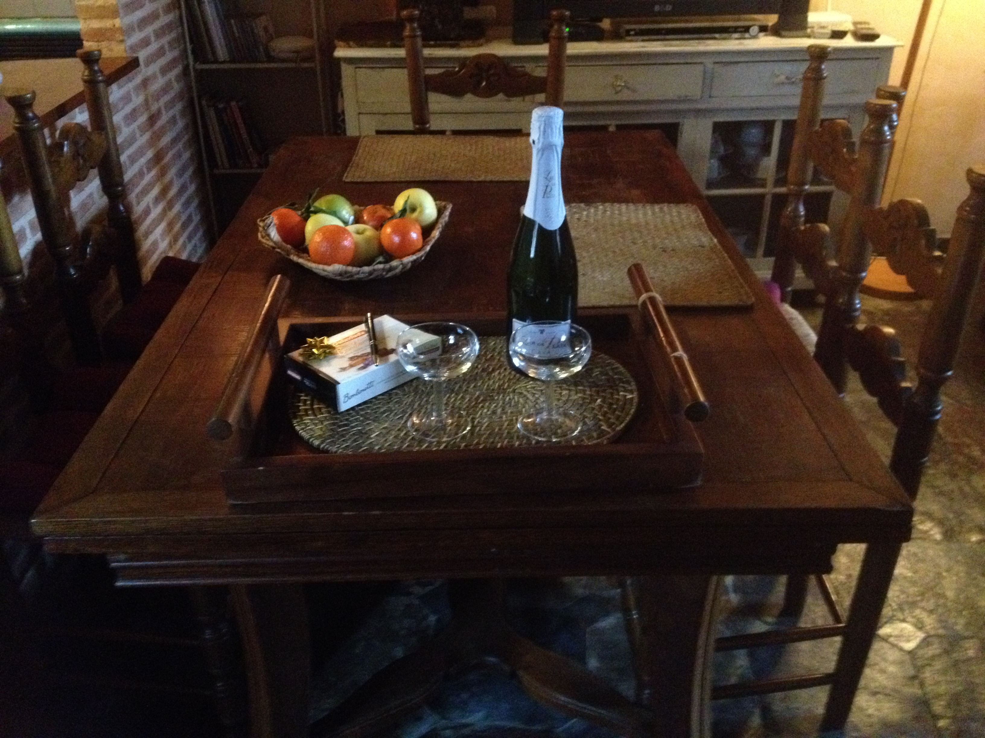 cena romantica casa rural