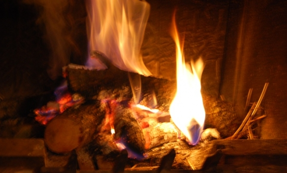chimenea - Casa rural con chimenea